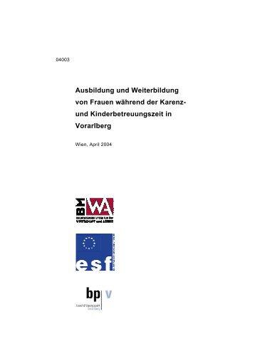 Ausbildung & Karenz - Territoriale Beschäftigungspakte in Österreich