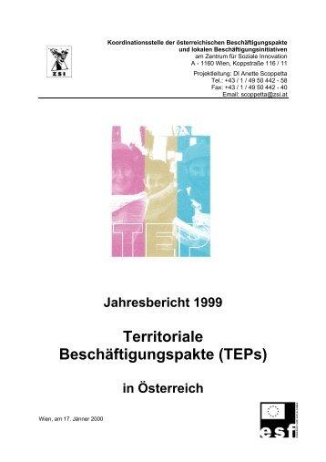 1999 - Territoriale Beschäftigungspakte in Österreich