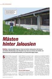 Mästen hinter Jalousien - PAL-Anlagenbau GmbH