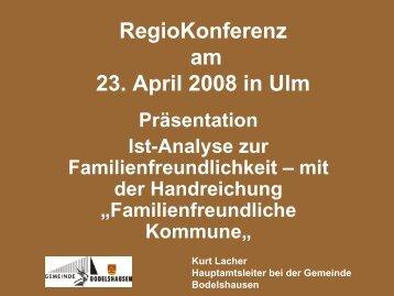 Bodelshausen bietet viel - Familienfreundliche Kommune
