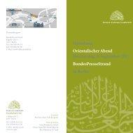 Orientalischer Abend - Palästinensische Generaldelegation in ...