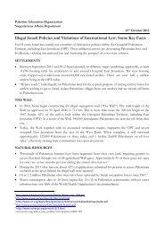 Illegal Israeli Policies and Violations of International Law - Palestine ...
