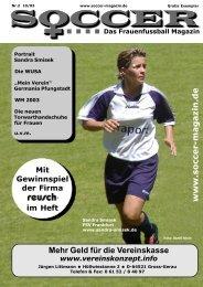 www.soccer-magazin.de Mehr Geld für die Vereinskasse - FanSoccer