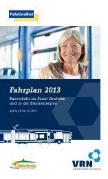 Fahrplanheft Sinsheim - Palatina Bus