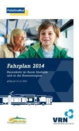 Fahrplanheft Sinsheim 2014 - Palatina Bus