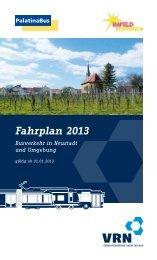 Fahrplanheft Neustadt - Palatina Bus