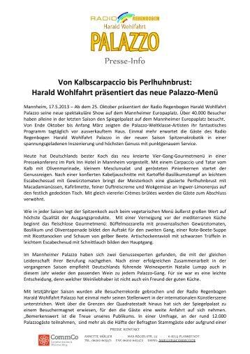 Harald Wohlfahrt präsentiert das neue Palazzo-Menü