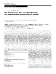 First Mesozoic record of the scleractinian Madrepora from the ...