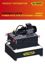 equipment center 04/2012 power pack for stationary cranes - Palfinger