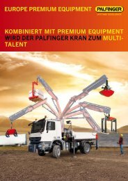 EUROPE PREMIUM EQUIPMENT KOMbINIERT MIT ... - Palfinger