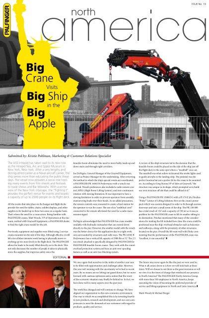 Big Crane Big Ship Big Apple - Palfinger