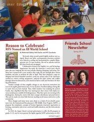 Reason to Celebrate! - Ramallah Friends Schools