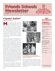 A Quaker Auditor? - Ramallah Friends Schools