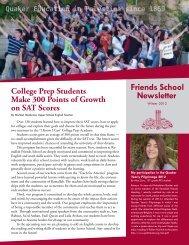 to read Ramallah Friends School's winter newsletter