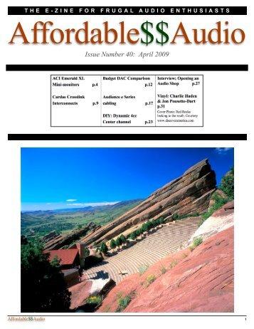 April 2009 - Affordable$$Audio
