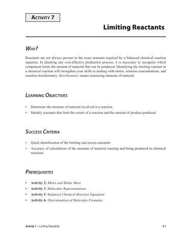 calculations involving a limiting reactant. Black Bedroom Furniture Sets. Home Design Ideas