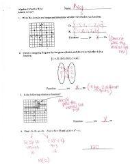 Algebra I Chapter 4 Practice Workbook Answer Key