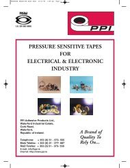 PRESSURE SENSITIVE ELEC ELEC - PPI Adhesive Products