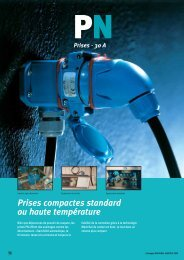 Prises compactes standard ou haute température - Palissy Galvani