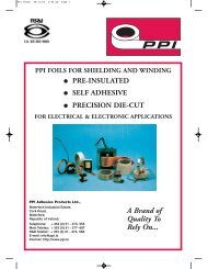 Foils Catalogue - PPI Adhesive Products
