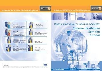 Sistema de Alarmes Sem fios 6 zonas - Palissy Galvani