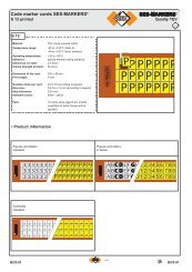 SES-MARKERS Code marker cards SES ... - Palissy Galvani
