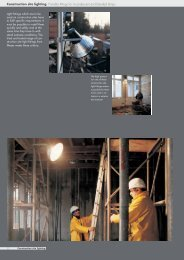 Construction site lighting Portable fittings for ... - Palissy Galvani