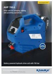 brochure AHP 700-L - Gustav Klauke GmbH