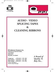 AUDIO-VIDEO TAPES BRO. - PPI Adhesive Products
