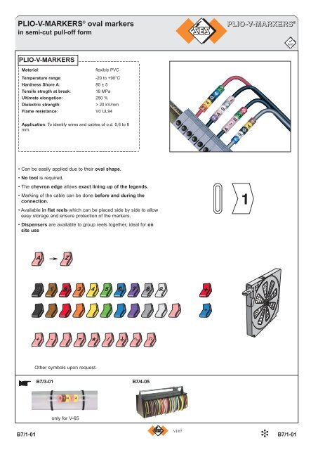 PLIO-V-MARKERS® oval markers - Palissy Galvani