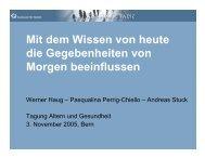 Die Zunahme der 65-79jährigen, 2005 - 2040 - Palliative Ostschweiz
