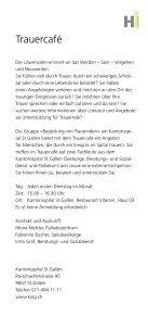 Trauercafé am KSSG - Palliative Ostschweiz - Seite 2