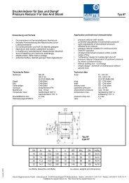 Druckminderer für Gas und Dampf Pressure Reducer For Gas And ...