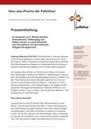 PM Im Gedenken an Pater Richard Henkes - Die Pallottiner