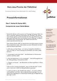 Informationen über P. Norbert M. Becker, Komponist ... - Die Pallottiner