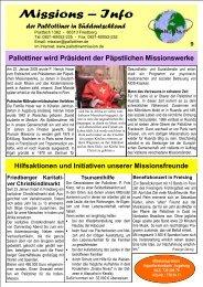 Missions – Info - Die Pallottiner