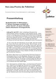 PM Buchpräsentation im Missionshaus der ... - Die Pallottiner
