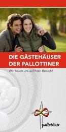 DIE GÄSTEHÄUSER DER PALLOTTINER - Die Pallottiner