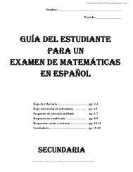 guía del estudiante para un examen de matemáticas en español