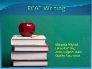 FCAT Writes Plus - The School District of Palm Beach County