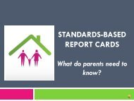 why a standards-based report card? - The School District of Palm ...