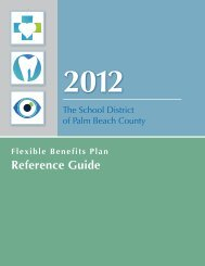 Benefit Reference Guide - The School District of Palm Beach County
