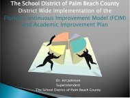 School Reform Accountability - The School District of Palm Beach ...