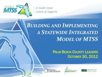 MTSS - The School District of Palm Beach County