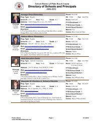 Schools/Principals Directory - The School District of Palm Beach ...