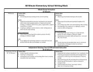 60 Minute Elementary School Writing Block - The School District of ...