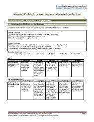 Marzano Protocol: Lesson Segments Enacted on the Spot