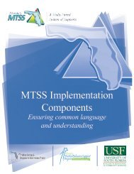 MTSS - Florida's Multi-Tiered System of Supports