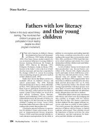 Fathers with low literacy and their young children - The School ...