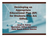 Developing an Appropriate Educational Plan (EP) for Students Who ...